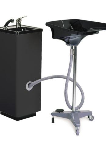 Washcolumn for mobile washbasin