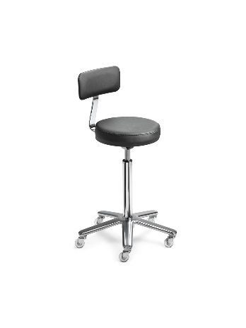 Stool with round seat and backrest