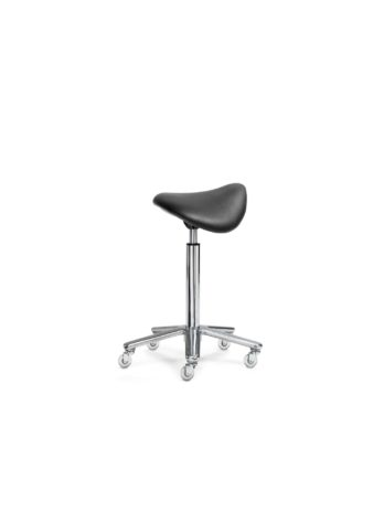Stool with ergonomic saddle seat