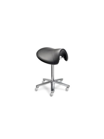 Stool with small ergonomic saddle seat
